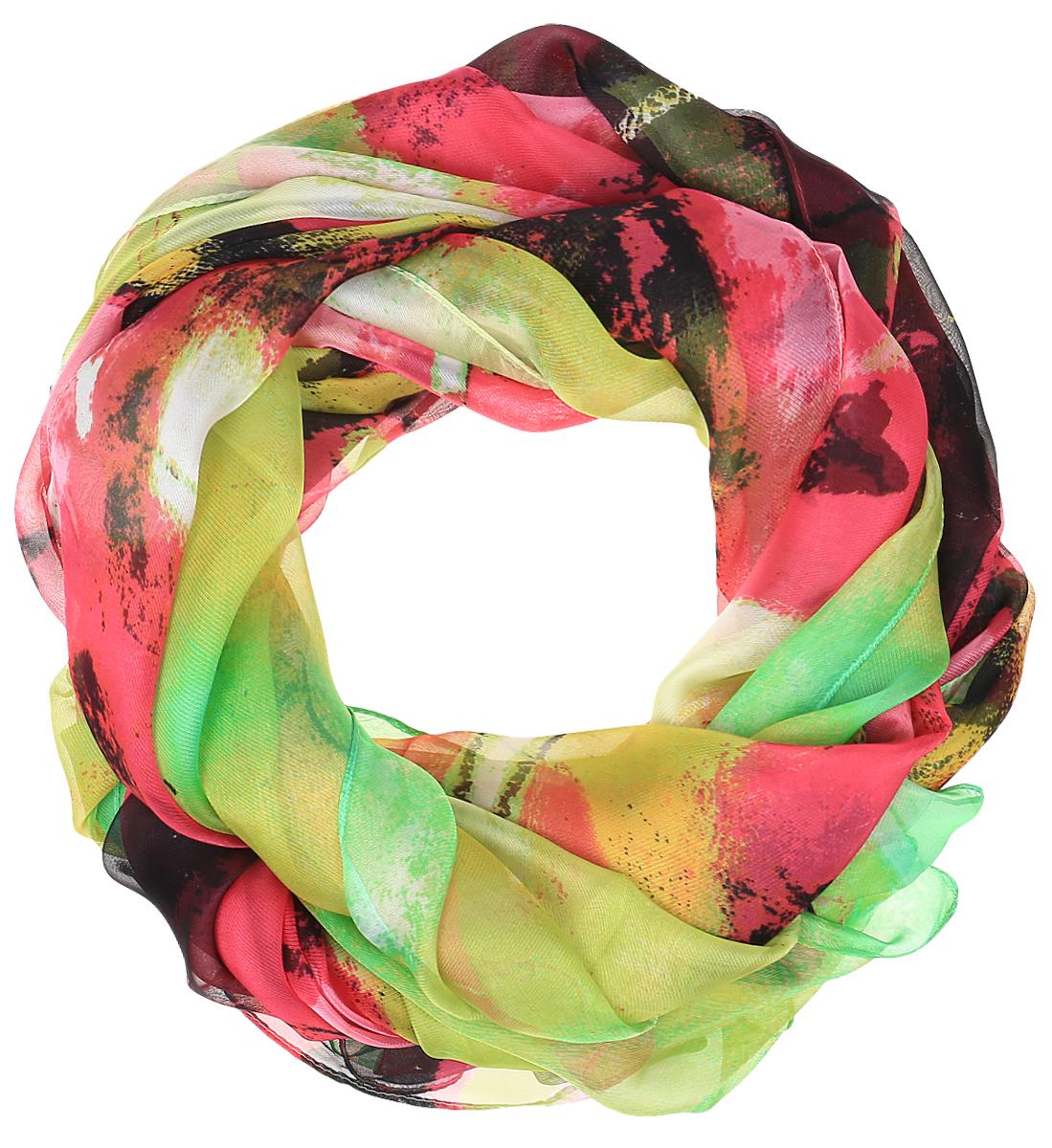 Палантин Sophie Ramage, цвет: салатовый, розовый, коричневый. PP-11707-3. Размер 120 см х 180 смPP-11707-3Яркий палантин Sophie Ramage изготовлен из шелка и полиэстера. Модель оформлена оригинальным принтом. Изделия Sophie Ramage приятные на ощупь и подойдут к любому стилю.