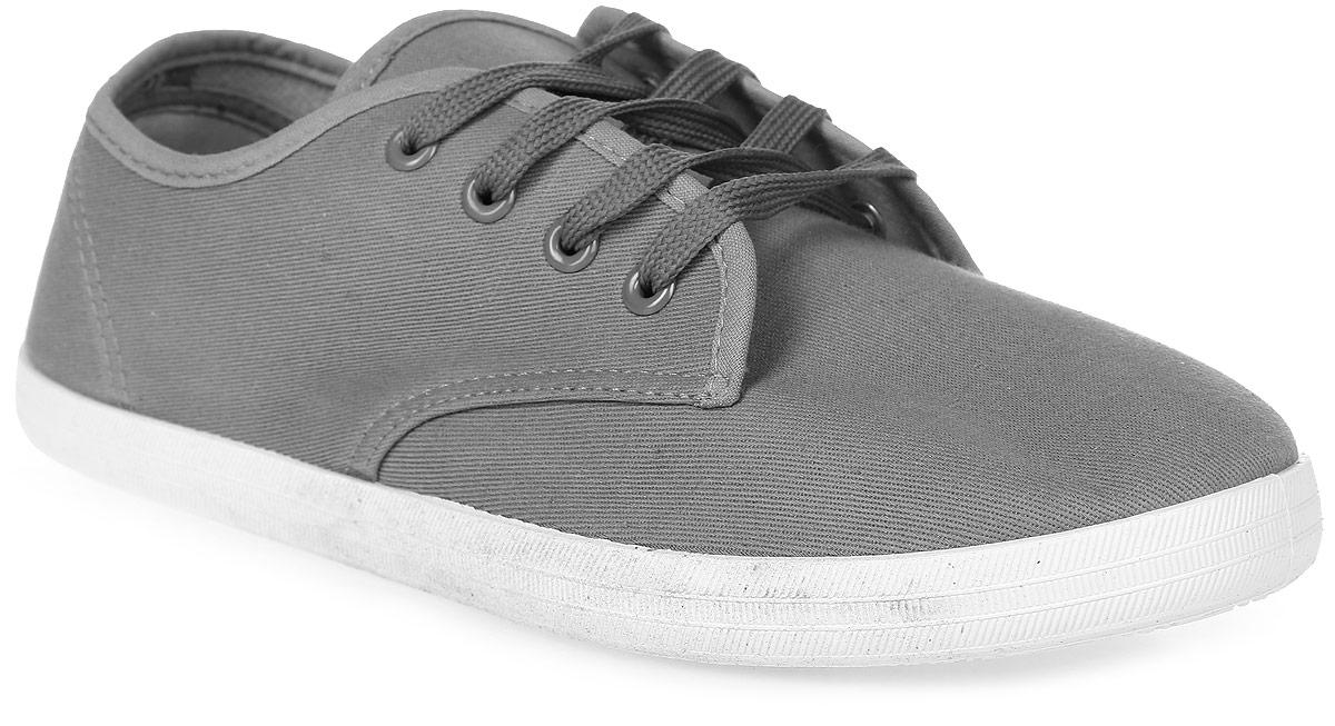 Кеды мужские In Step, цвет: серый. JT6162. Размер 45JT6162Мужские кеды от In Step изготовлены из высококачественного текстиля. Модель надежно фиксируется на ноге при помощи классической шнуровки. Сплошная подошва из термопластичного полимера обеспечивает равномерное распределение нагрузки по всей поверхности стопы.