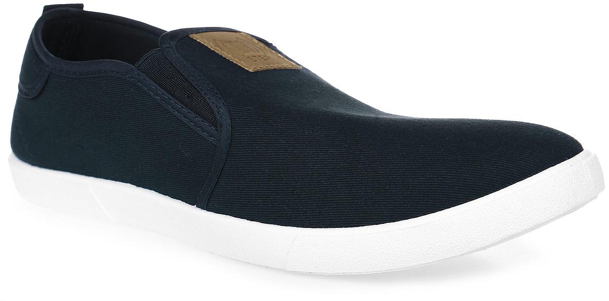 Слипоны мужские In Step, цвет: темно-синий. JT9396. Размер 40JT9396Стильные мужские слипоны от In Step выполнены из высококачественного текстиля. Подошва из ПВХ устойчива к изломам. На подъеме модель дополнена эластичными вставками для удобства надевания. Аккуратно смотрятся на ноге, комфортно носятся.