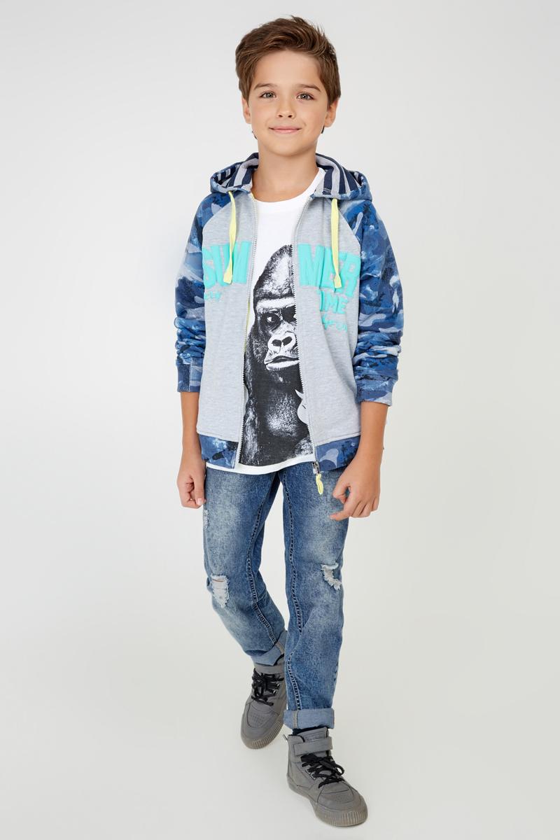 Джинсы для мальчика Acoola Dendy, цвет: синий. 20110160085_500. Размер 15220110160085_500Стильные джинсы для мальчика Acoola Dendy идеально подойдут юному моднику. Изготовленные из хлопка с добавлением полиэстера и полиуретана, они мягкие и приятные на ощупь, не сковывают движения и позволяют коже дышать, обеспечивая наибольший комфорт. Модель с регулируемой резинкой на талии и застежкой на молнию и крючок. На поясе предусмотрены шлевки для ремня.Спереди расположены два втачных кармана и один маленький накладной, сзади - два накладных кармана. Модель из стираного денима с сильно потертыми деталями - ультрамодный и удобный предмет детского гардероба. В них ребенок всегда будет в центре внимания!
