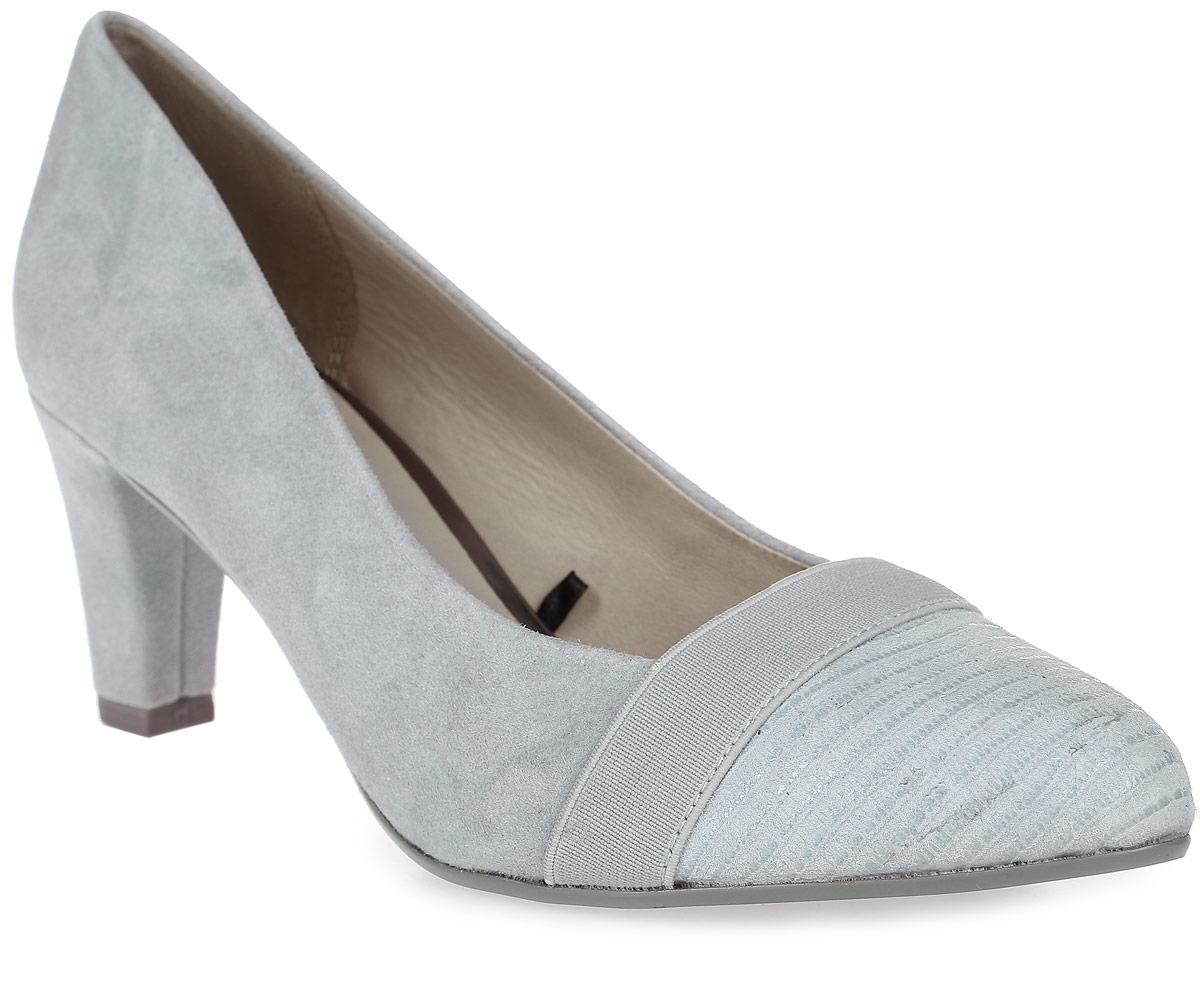 Туфли женские Be Natural, цвет: серый. 8-8-22409-28-833/265. Размер 5 (38)8-8-22409-28-833/265Стильные туфли от Be Naturalне оставят равнодушной настоящую модницу! Модель выполнена из натуральной кожи. Мыс оформлен текстильной лентой. Закругленный носок добавляет женственности. Подкладка и стелька из натуральной кожи обеспечивают максимальный комфорт. Каблук умеренной высоты невероятно устойчив. Подошва с рифлением обеспечивает идеальное сцепление с любыми поверхностями. Элегантные туфли внесут изысканные нотки в ваш образ и подчеркнут вашу утонченную натуру.