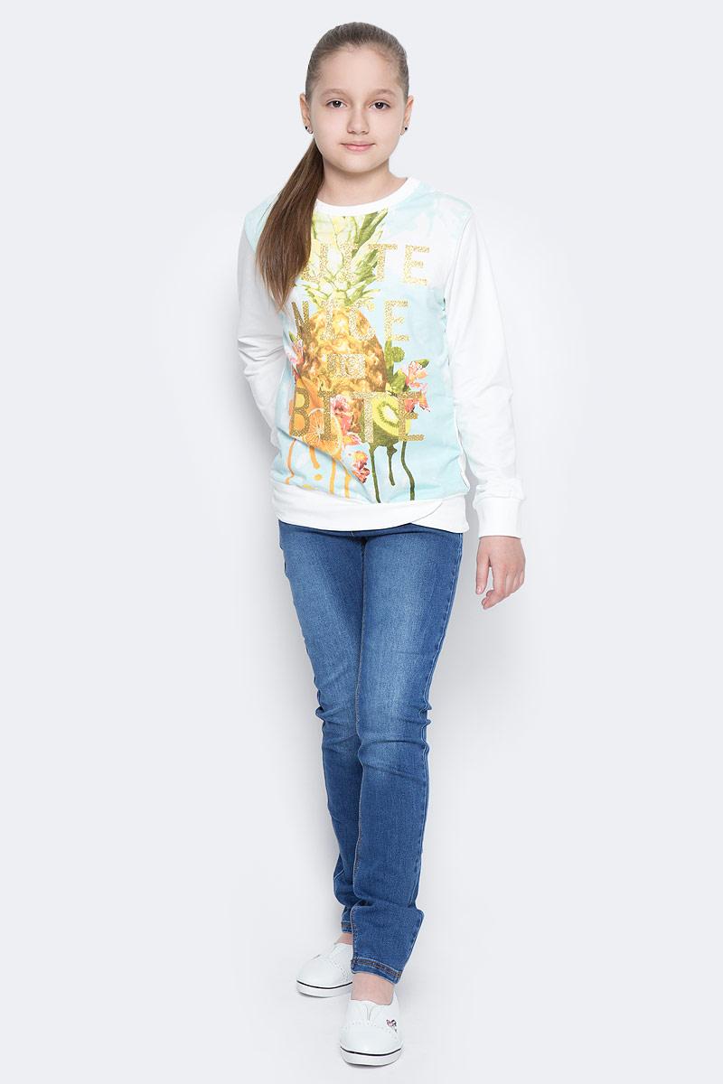 Джинсы для девочки Sela Denim, цвет: синий. PJ-635/134-7142. Размер 146PJ-635/134-7142Стильные джинсы для девочки Sela, выполненные из эластичного хлопка с эффектом потертостей и контрастной строчкой, станут отличным дополнением к гардеробу юной модницы. Джинсы зауженного кроя и стандартной посадки на талии имеют широкий пояс на мягкой резинке со шлевками для ремня. Модель представляет собой классическую пятикарманку: два втачных и один маленький накладной кармашек спереди и два накладных кармана сзади.