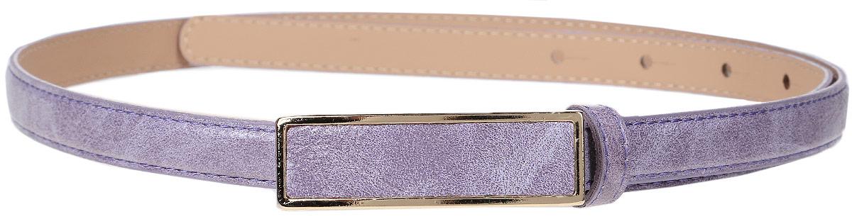 Ремень женский Finn Flare, цвет: сиреневый. S17-11304_820. Размер (95)S17-11304_820Такой симпатичный матовый ремешок украсит любое ваше летнее платье или лёгкую рубашку! Прямоугольная пряжка и модный цвет освежат даже самый скучный наряд. Выполнен ремешок из прочной искусственной кожи.