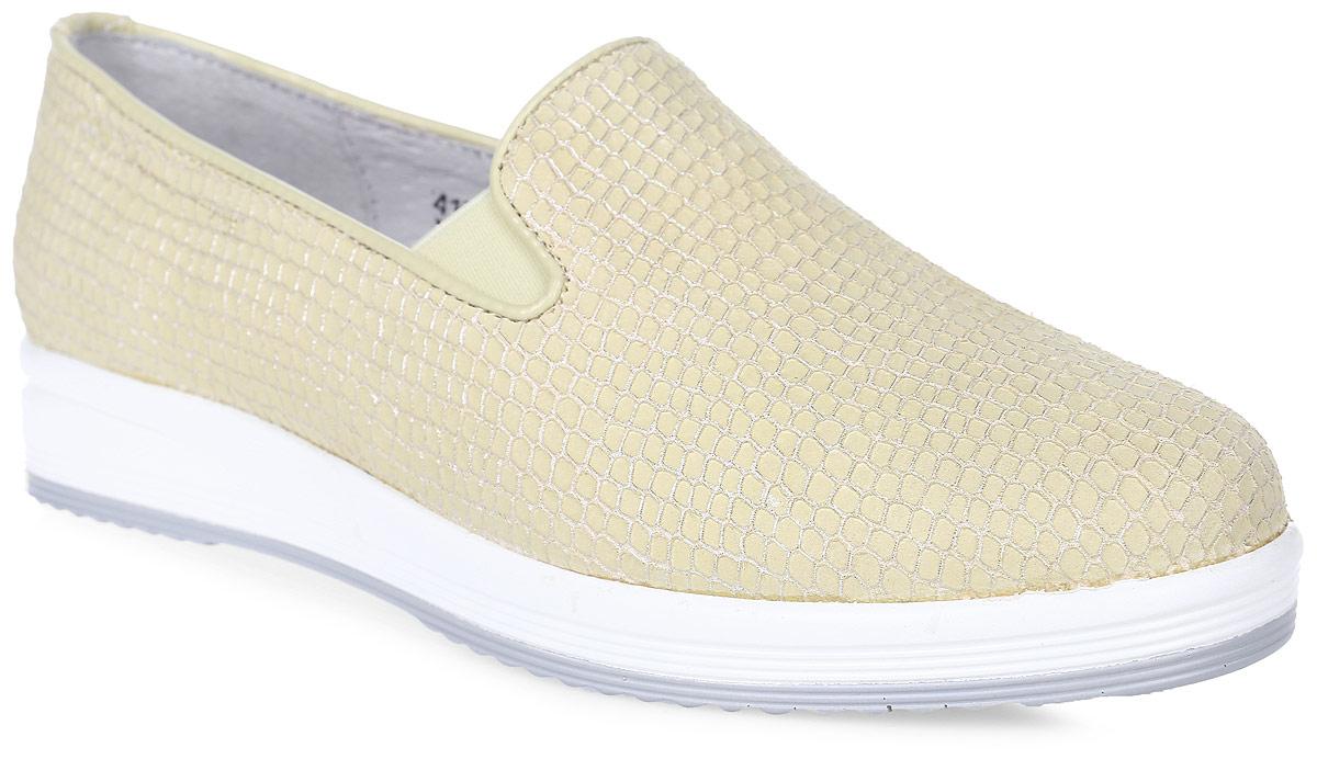 Полуботинки женские Francesco Donni, цвет: желтый. P415 475AA-Y61-19G40. Размер 39P415 475AA-Y61-19G40Стильные и невероятно удобные женские полуботинки выполнены из натуральной кожи. Эластичные вставки на подъеме обеспечат надежную фиксацию модели на ноге. Рифленая подошва обеспечивает отличное сцепление с поверхностью.