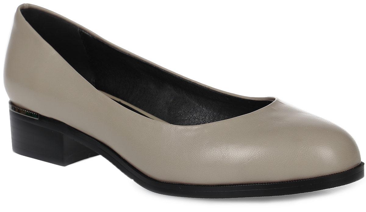 Туфли женские LK collection, цвет: бежевый. SP-PA0201-2 PU. Размер 40SP-PA0201-2 PUСтильные туфли на низком квадратном каблуке выполнены из искусственной кожи. Стелька выполнена из натуральной кожи.