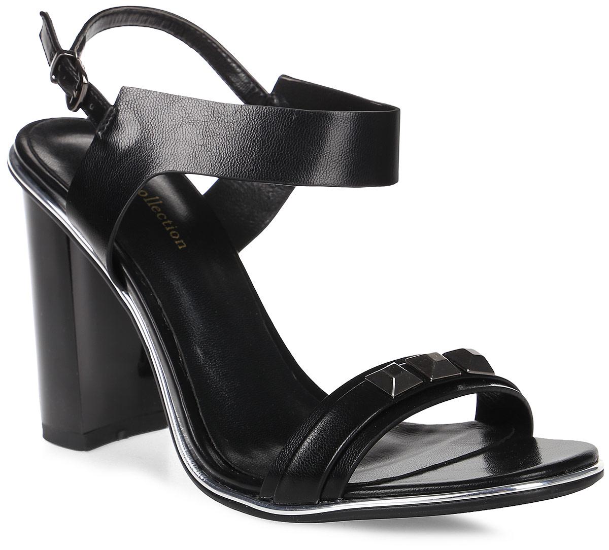 Босоножки женские LK collection, цвет: черный. SP-FA1201-1 PU КОЖА (SP-F08001-3). Размер 40SP-FA1201-1 PU КОЖА (SP-F08001-3)Стильные босоножки на устойчивом каблуке выполнены из искусственной кожи. Стелька выполнена из натуральной кожи. Босоножки фиксируются на ноге при помощи застежки-пряжки.