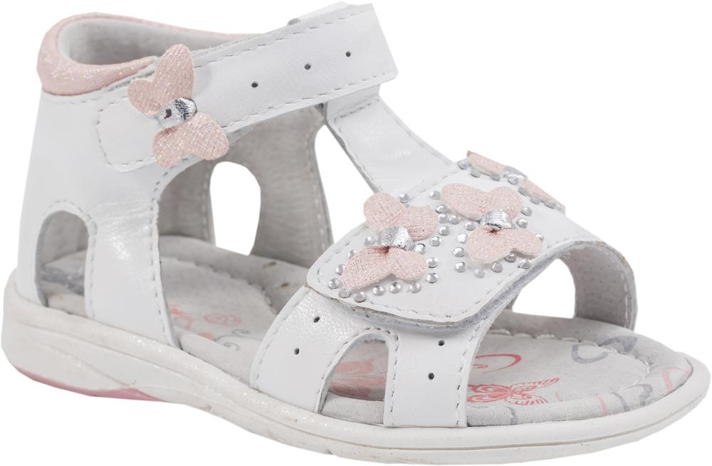 Сандалии для девочки Котофей, цвет: белый, розовый. 122091-21. Размер 23122091-21Модные сандалии для девочки от Котофей выполнены из натуральной кожи. Внутренняя поверхность и стелька из натуральной кожи обеспечат комфорт при движении. Ремешки с застежками-липучками надежно зафиксируют модель на ноге. Подошва дополнена рифлением.