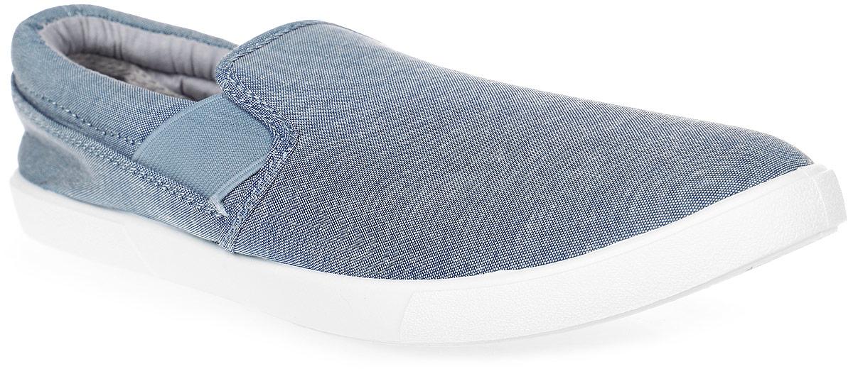 Слипоны мужские In Step, цвет: голубой. JT9395-2. Размер 43JT9395-2Стильные мужские слипоны от In Step выполнены из высококачественного текстиля. Подошва из резины устойчива к изломам. На подъеме модель дополнена эластичными вставками для удобства надевания. Аккуратно смотрятся на ноге, комфортно носятся.