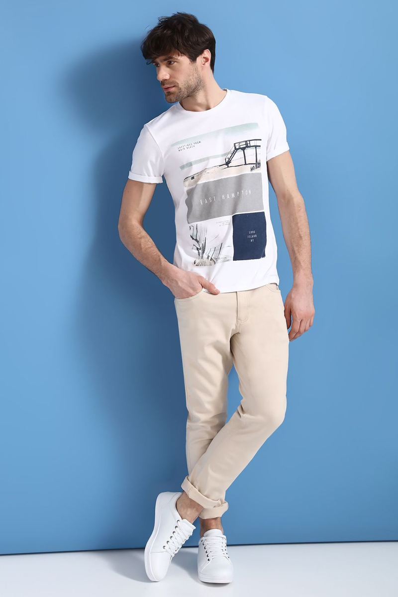 Брюки мужские Top Secret, цвет: бежевый. SSP2538BE. Размер 31-32 (46/48-32)SSP2538BEСтильные мужские брюки Top Secret - брюки высочайшего качества на каждый день, которые прекрасно сидят. Модель изготовлена из высококачественного хлопка и эластана. Застегиваются брюки на пуговицу в поясе и ширинку на молнии, имеются шлевки для ремня. Эти модные и в тоже время комфортные брюки послужат отличным дополнением к вашему гардеробу. В них вы всегда будете чувствовать себя уютно и комфортно.
