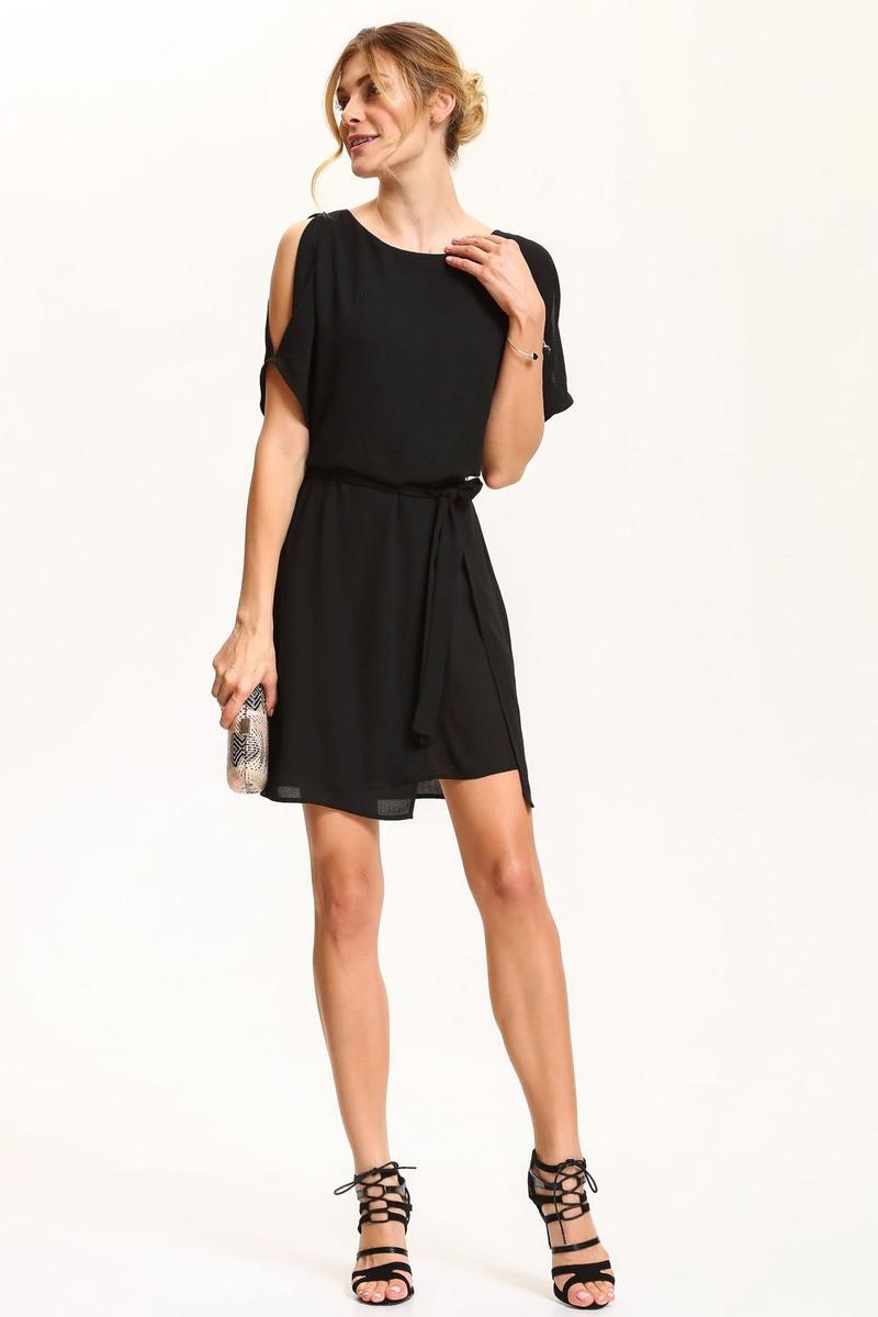 Платье Top Secret, цвет: черный. SSU1833CA. Размер 42 (50)SSU1833CAПлатье Top Secret выполнено из полиэстера. Модель с круглым вырезом горловины и короткими рукавами.