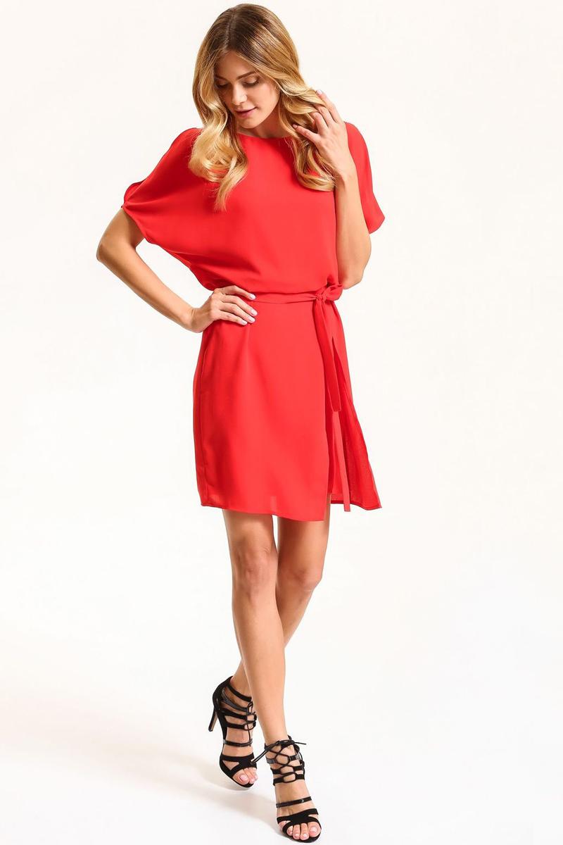 Платье Top Secret, цвет: красный. SSU1837CE. Размер 34 (42)SSU1837CEПлатье Top Secret выполнено из полиэстера. Модель с круглым вырезом горловины и короткими рукавами.
