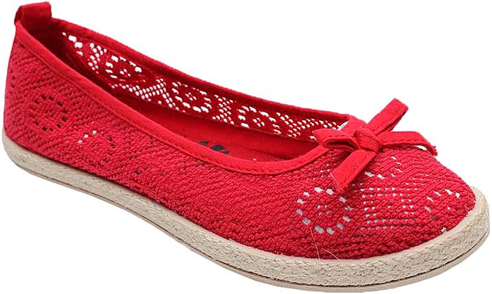Балетки женские Spur, цвет: красный. 43SSU_JX1609_RED. Размер 3743SSU_JX1609_REDСтильные женские балетки от Spur покорят вас своим дизайном и удобством! Модель выполнена из перфорированного текстиля. Резиновая подошва с рельефной поверхностью обеспечивает отличное сцепление с любыми поверхностями.