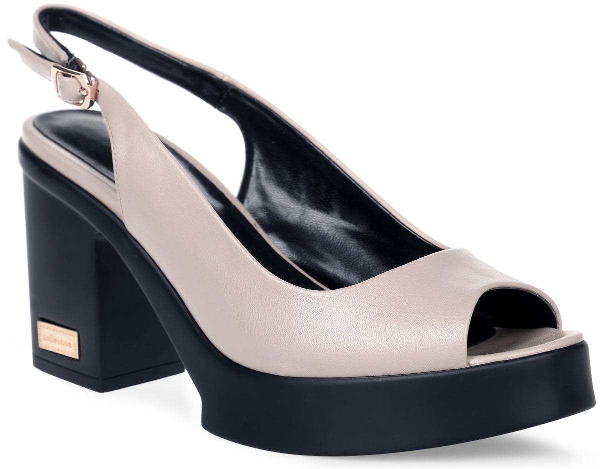 Босоножки женские LK collection, цвет: бежевый. SP-EA1402-2(1) PU (SP-E308001-3). Размер 38SP-EA1402-2(1) PU (SP-E308001-3)Стильные босоножки на устойчивом квадратном каблуке выполнены из искусственной кожи. Босоножки фиксируются на ноге при помощи застежки-пряжки.