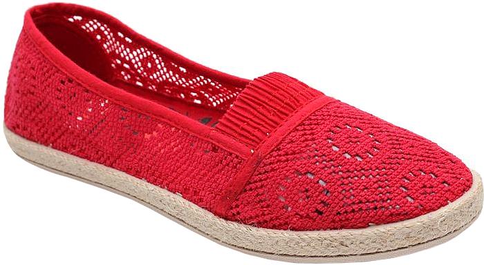 Слипоны женские Spur, цвет: красный. 29SSU_JX1607_RED. Размер 3929SSU_JX1607_REDСтильные женские слипоны от Spur покорят вас своим дизайном и удобством! Модель выполнена из перфорированного текстиля. Подошва с рельефной поверхностью обеспечивает отличное сцепление с любыми поверхностями.