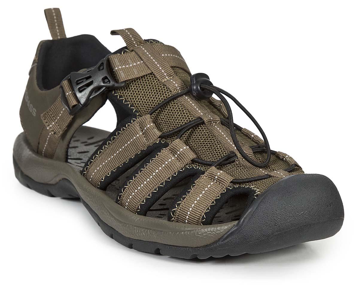 Сандалии мужские Trespass Cornice, цвет: хаки. MAFOBEL10005. Размер 42MAFOBEL10005Трекинговые мужские сандалии, выполненные из плотного текстиля, отлично подойдут для занятия туризмом. Ремешки с пластиковыми карабинами надежно зафиксируют модель на ноге. Основание подошвы дополнено рифлением.