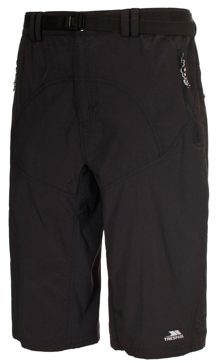 Шорты для велоспорта мужские Trespass Lomas, цвет: черный. MABTSHG10010. Размер XL (54)MABTSHG10010Эластичные быстросохнущие шорты для велоспорта Trespass Lomas выполнены из полиэстера. Спереди по бокам у модели два прорезных кармана на молнии. Снизу изделие оформлено логотипом бренда.