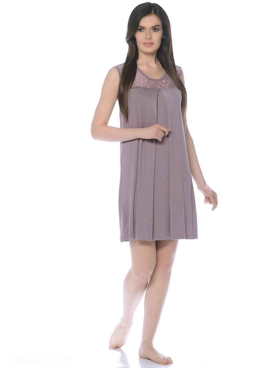 Сорочка ночная для беременных и кормящих 40 недель, цвет: серо-розовый. 180131. Размер 52180131Женственная сорочка для беременных и кормления от бренда 40 недель выполнена из струящегося трикотажного полотна. Модель без рукавов, свободного покроя. Сорочка украшена изумительной кокеткой из гипюра и дополнена широкой встречной складкой по переду для объема на растущий животик. Приятная ткань, прекрасный дизайн, модная цветовая гамма, удобный секрет кормления сделают сорочку любимой и приятной для вас.