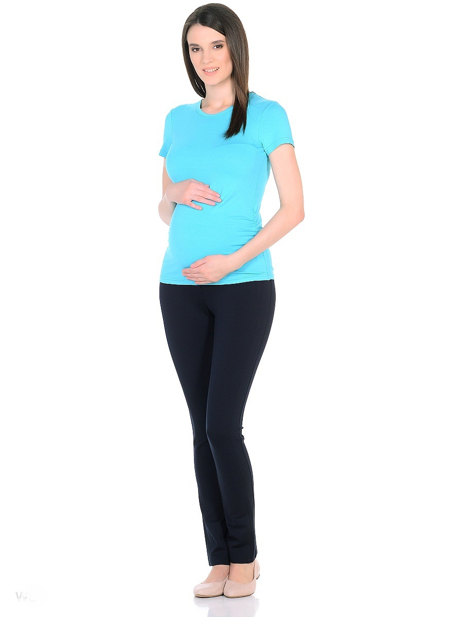 Футболка для беременных 40 недель, цвет: бирюзовый. 201207. Размер 48201207Футболка для беременных от бренда 40 недель выполнена из вискозного трикотажа высокого качества. Традиционный фасон с короткими рукавами и округлым вырезом горловины дополнен резинками в боковых швах, которые создают легкие сборки и объем для животика в период беременности. После рождения малыша они скроют временные несовершенства фигуры. Практичная и удобная повседневная вещь, комбинируется с любым низом, обеспечивая комфортом на любом сроке беременности и после рождения малыша.