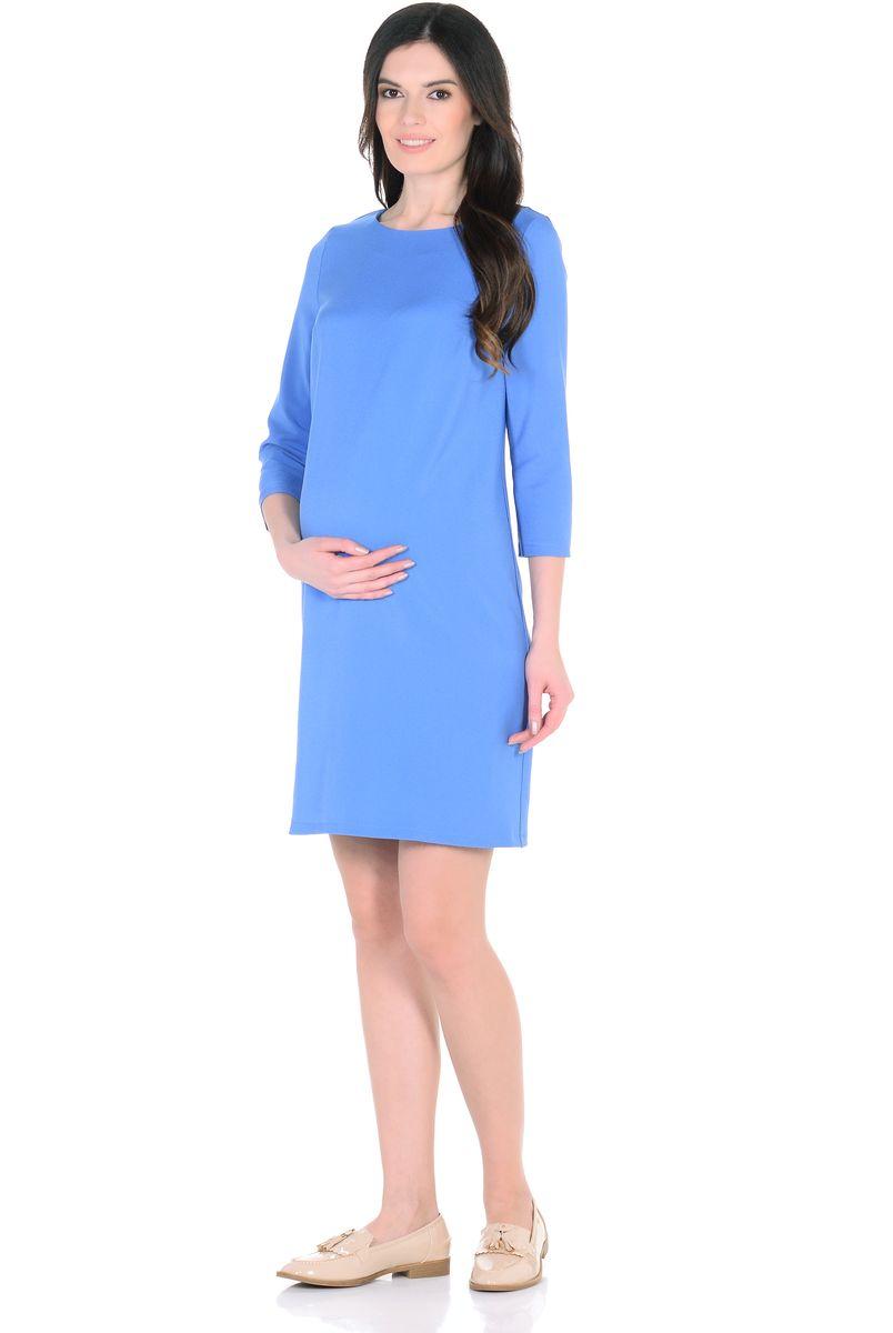 Платье для беременных 40 недель, цвет: голубой. 302313. Размер 46302313Элегантное платье для беременных от бренда 40 недель - прекрасный вариант на каждый день для будущей мамы. Модель прямого силуэта с рукавом 3/4 и с вырезом горловины лодочка. Платье отлично садится по фигуре, благодаря продуманному крою и мягкости ткани. Шлица в среднем шве спинки обеспечивает свободные движения при ходьбе и подчеркивает элегантный лаконичный дизайн. Универсальный классический фасон позволяет носить такое платье на любом сроке беременности и после рождения малыша. Дополнив такое платье любимыми украшениями и аксессуарами, можно легко изменить образ, сделать его особенным и неповторимым.