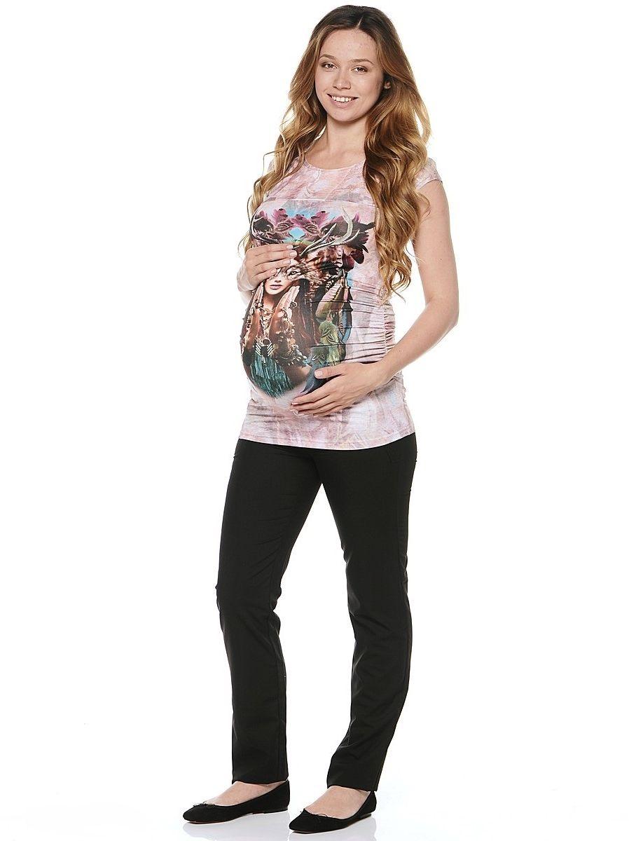Футболка для беременных 40 недель, цвет: светло-розовый. 21279. Размер 4421279Стильная футболка для беременных от бренда 40 недель - прекрасный выбор для будущей мамы на каждый день. Модель с коротким рукавом и округлым вырезом по горловине изготовлена из приятного к телу трикотажа. Мягкая ткань бережно облегает, плавно повторяя формы и изгибы тела, обеспечивает комфорт для животика на любом сроке беременности. Футболка декорирована оригинальным фотопринтом. Изделие визуально корректирует фигуру после рождения малыша, благодаря резинкам в боковых швах. Идеально сочетается с джинсами, шортами и леггинсами, для создания различных образов.