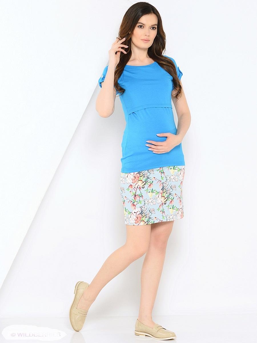 Футболка для беременных 40 недель, цвет: голубой. 205101. Размер 46205101Модная футболка для беременных и кормления от бренда 40 недель выполнена из вискозного трикотажа. Модель прямого силуэта с коротким рукавом-реглан. Футболка имеет удобный секрет для кормления, который скрыт под кокеткой. Планки на рукавах и по спинке с декором пуговицами, украшают и придают изюминку. Практичная, мягкая вискозная ткань с небольшим добавлением лайкры, хорошо растягивается и бережно облегает. Ткань приятная к телу, почти не мнется и всегда идеально сидит по фигуре. Такая футболка - универсальная и незаменимая вещь для беременных и кормящих женщин в повседневном гардеробе на любой сезон.