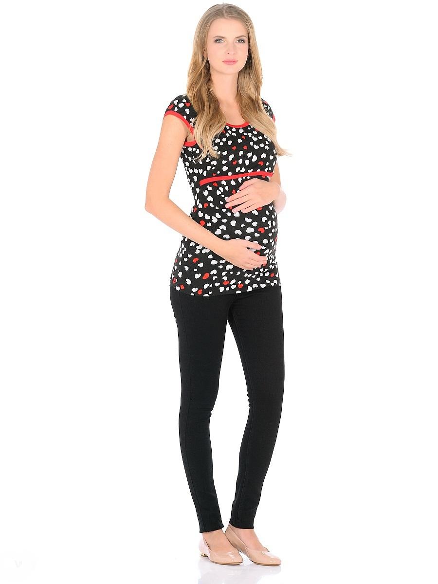 Футболка для беременных 40 недель, цвет: черный. 205120. Размер 46205120Футболка для беременных и кормящих женщин от бренда 40 недель - прекрасный выбор на каждый день. Удобная модель в привлекательной расцветке полуприталенного силуэта, с короткими рукавами и с округлым вырезом горловины. Блузка имеет уникальный секрет кормления, который скрыт под кокеткой спереди, и позволяет с комфортом кормить малыша грудью незаметно для окружающих. Практичная, мягкая вискозная ткань с небольшим добавлением лайкры, хорошо растягивается и бережно облегает, ткань приятная к телу, не мнется, и всегда идеально сидит по фигуре, по этому в такой футболке всегда легко и комфортно.
