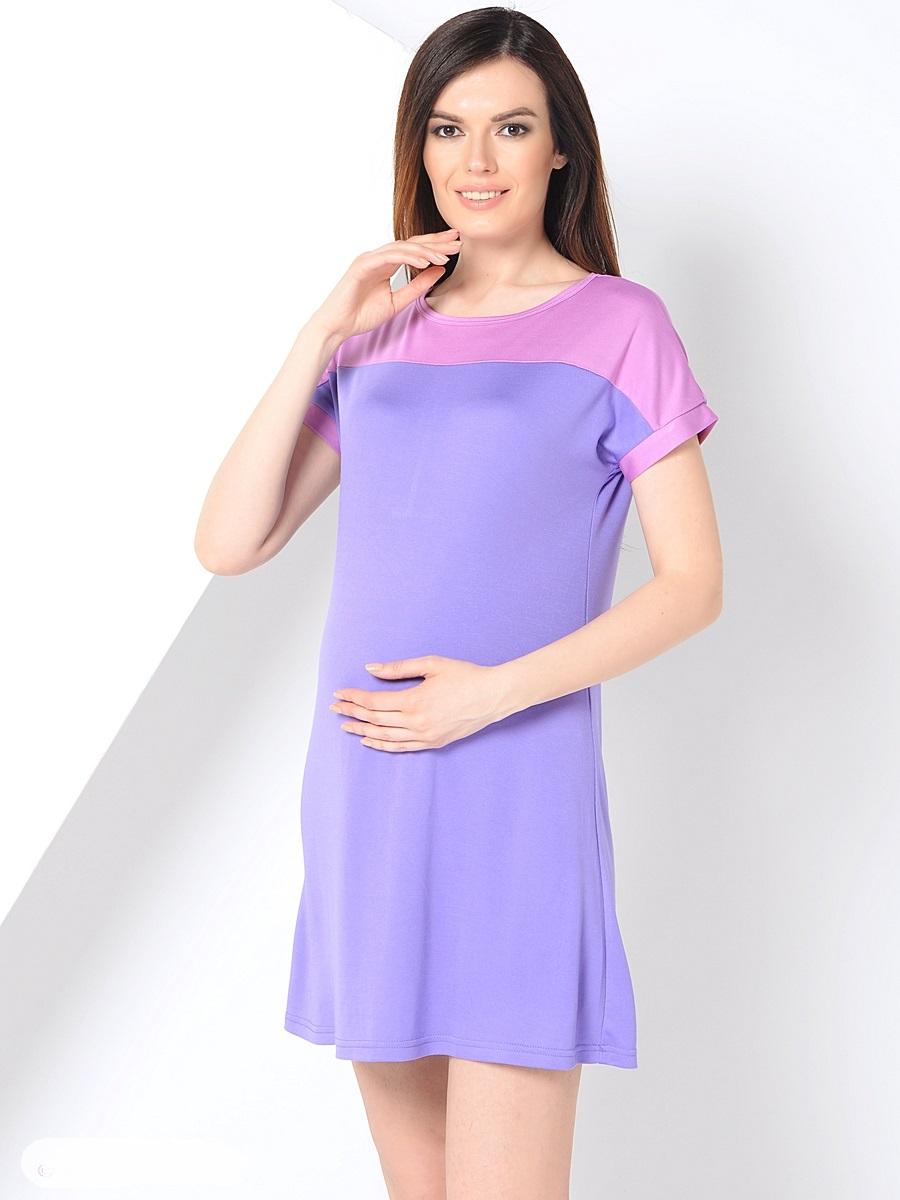 Платье для беременных 40 недель, цвет: сиреневый, розовый. 300304. Размер 48300304Повседневное платье для беременных от бренда 40 недель покорит вас своим дизайном. Модель прямого силуэта с коротким рукавом-реглан и вырезом лодочка. Благодаря эластичному материалу и свободному крою, платье идеально садиться по фигуре и обеспечивает комфорт при движении. Женственный вырез изящно подчеркивает вырез плеч, короткий спущенный рукав и дышащая ткань создают благоприятное ощущение при носке даже в жаркую погоду.
