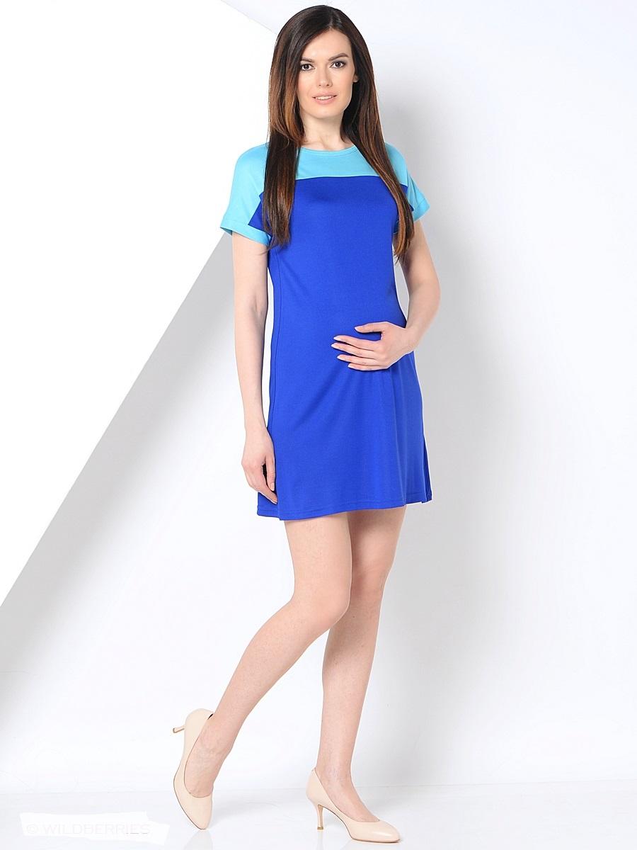 Платье для беременных 40 недель, цвет: синий, бирюзовый. 300304. Размер 44300304Повседневное платье для беременных от бренда 40 недель покорит вас своим дизайном. Модель прямого силуэта с коротким рукавом-реглан и вырезом лодочка. Благодаря эластичному материалу и свободному крою, платье идеально садиться по фигуре и обеспечивает комфорт при движении. Женственный вырез изящно подчеркивает вырез плеч, короткий спущенный рукав и дышащая ткань создают благоприятное ощущение при носке даже в жаркую погоду.