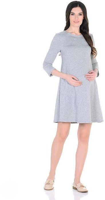 Платье для беременных 40 недель, цвет: серый меланж. 300322. Размер 46300322Модное повседневное платье для беременных от бренда 40 недель - идеальный вариант для будущей мамы. Модель трапециевидного силуэта, с округлым вырезом горловины и рукавом 3/4. Платье изготовлено из мягкой и приятной к телу ткани футер. Особая обработка краев платья с эффектом незавершенности, придает лаконичному фасону оттенок гранжевого стиля, а оригинальная аппликация в форме сердца подчеркивает женственность образа. Платье отлично садится по фигуре, не сковывает движений. Универсальный фасон позволяет носить такое платье как в период беременности, так и после рождения малыша.