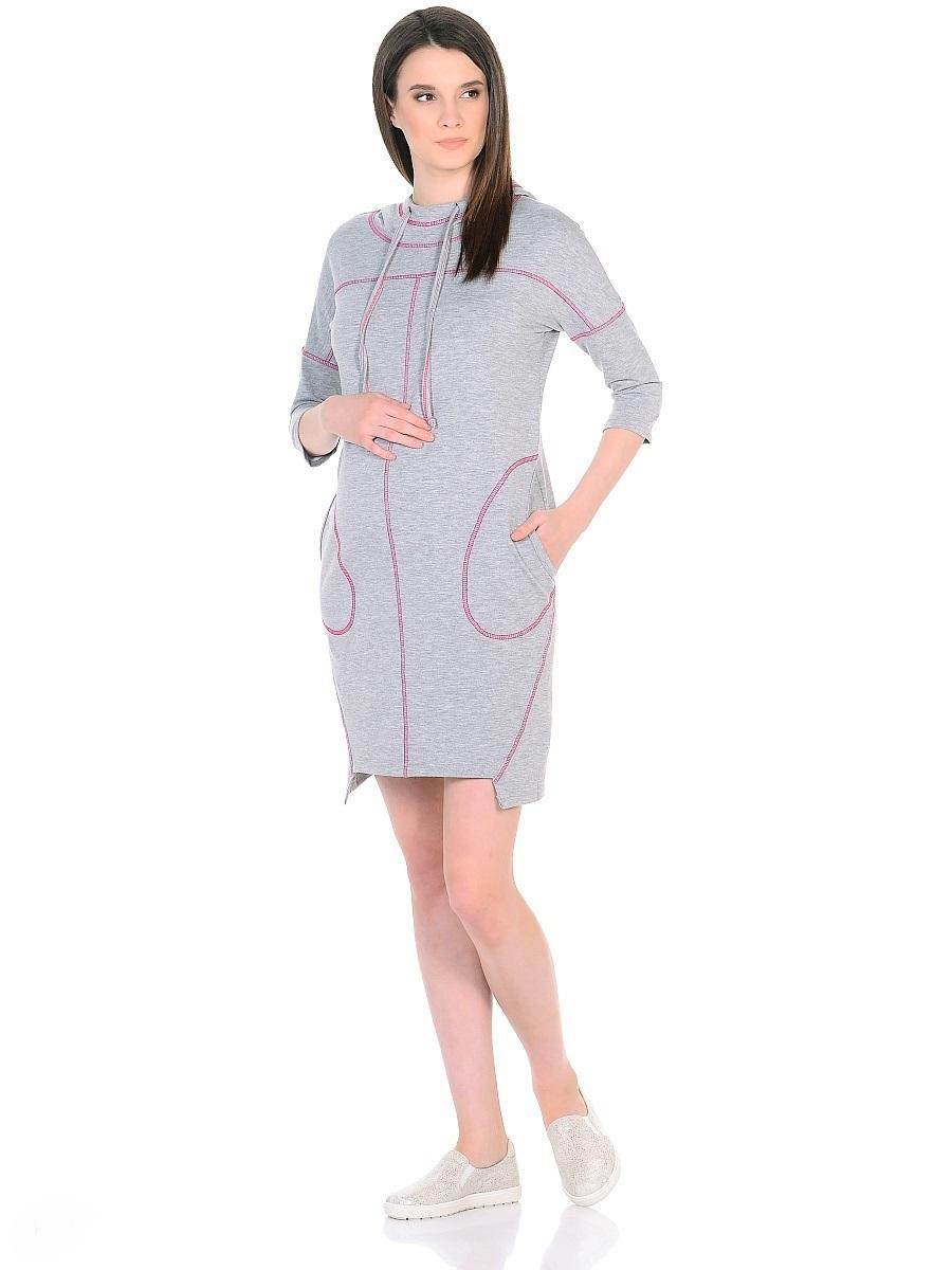 Платье для беременных 40 недель, цвет: серый, розовый. 300329. Размер 42300329Оригинальное платье для беременных от бренда 40 недель изготовлено из трикотажного полотна. Модель прямого силуэта со спущенным плечевым швом и рукавами 3/4 в стиле oversize. Практичный капюшон с высоким воротом и кулиской на завязках и объемные карманы придают платью спортивный оттенок. Геометрическая форма низа и четкие линии декоративной отстрочки придают модели оригинальный внешний вид. Платье отлично садится по фигуре, не сковывает движений, создает комфорт и непринужденность на любом сроке беременности и после. К тому же такое платье дарит возможность подчеркнуть свою индивидуальность и реализовать желание выглядеть интересно и особенно стильно.
