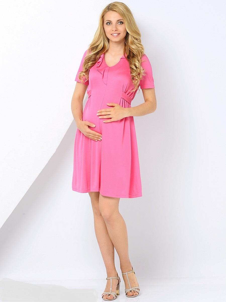 Платье для беременных 40 недель, цвет: розовый. 300369. Размер 46300369Элегантное платье для беременных от бренда 40 недель выполнено из мягкого хлопка с небольшим добавлением лайкры. Модель с V-образным вырезом горловины и короткими рукавами дополнена на спинке специальными регулирующими объем завязками, позволяющими носить это платье на всем сроке беременности и после нее. Уникальный крой и дизайн позволят вам отлично выглядеть и с комфортом носить это платье каждый день.
