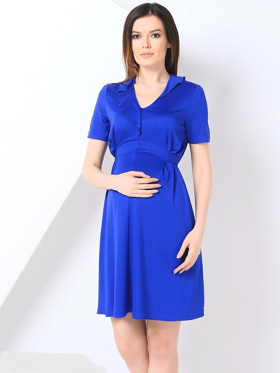 Платье для беременных 40 недель, цвет: синий. 300369. Размер 44300369Элегантное платье для беременных от бренда 40 недель выполнено из мягкого хлопка с небольшим добавлением лайкры. Модель с V-образным вырезом горловины и короткими рукавами дополнена на спинке специальными регулирующими объем завязками, позволяющими носить это платье на всем сроке беременности и после нее. Уникальный крой и дизайн позволят вам отлично выглядеть и с комфортом носить это платье каждый день.