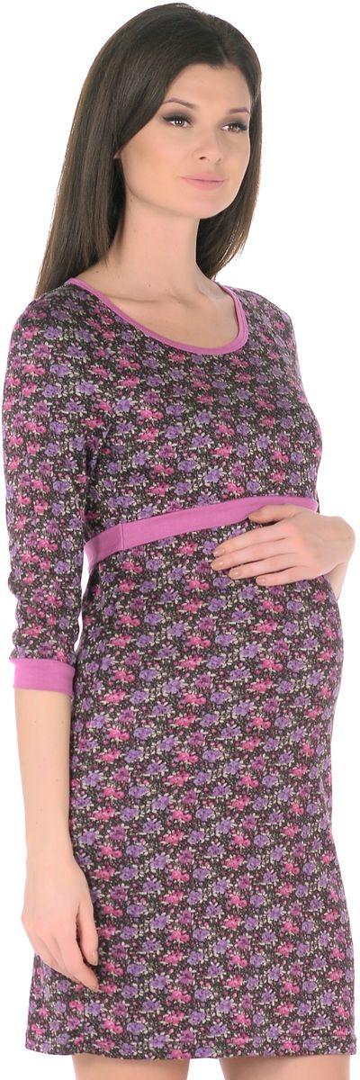 Платье для беременных 40 недель, цвет: черный, фуксия. 301309. Размер 48301309Модное платье для беременных и кормящих женщин от бренда 40 недель - отличный выбор на каждый день! Модель с рукавами-реглан 3/4 и с округлым вырезом горловины выполнена из приятного к телу трикотажа в привлекательной расцветке. Края оформлены контрастной окантовкой. Платье имеет уникальный секрет кормления. Для комфортного и незаметного кормления малыша, достаточно приподнять верхний слой кокетки, и с комфортом покормить малыша грудью, незаметно для окружающих. Платье превосходно садится по фигуре, красиво подчеркивая женственные формы, в тачными поясками по бокам можно регулировать силуэт делая его более совершенным.