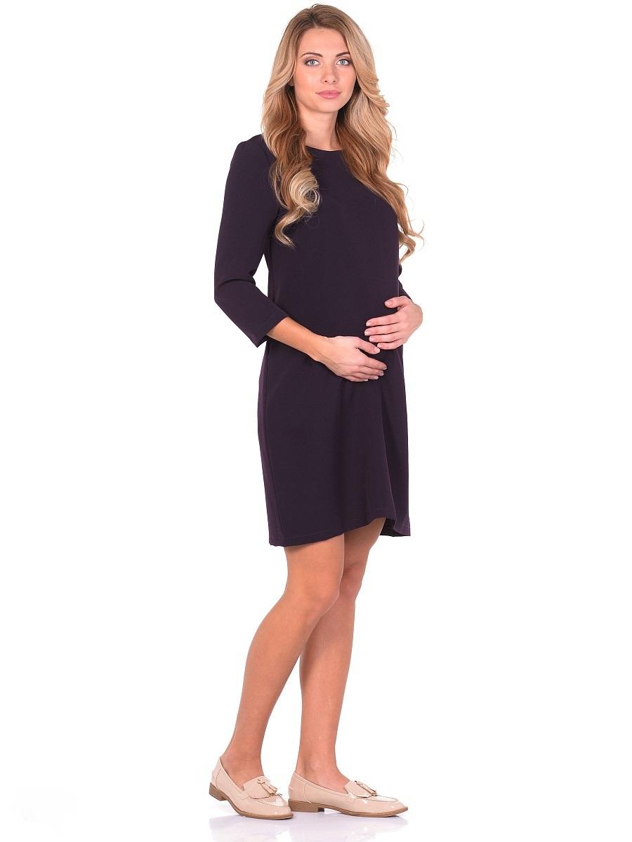 Платье для беременных 40 недель, цвет: темно-фиолетовый. 301313. Размер 46301313Элегантное платье для беременных от бренда 40 недель - прекрасный выбор для будущей мамы на каждый день. Модель прямого силуэта с рукавом 7/8 и вырезом горловины лодочка. Платье отлично садится по фигуре, благодаря продуманному крою и мягкости ткани. Шлица в среднем шве спинки обеспечивает свободные движения при ходьбе и подчеркивает элегантный лаконичный дизайн. Универсальный классический фасон позволяет носить такое платье на любом сроке беременности и после. Дополнив такое платье любимыми украшениями и аксессуарами, можно легко изменить образ, сделать его особенным и неповторимым.