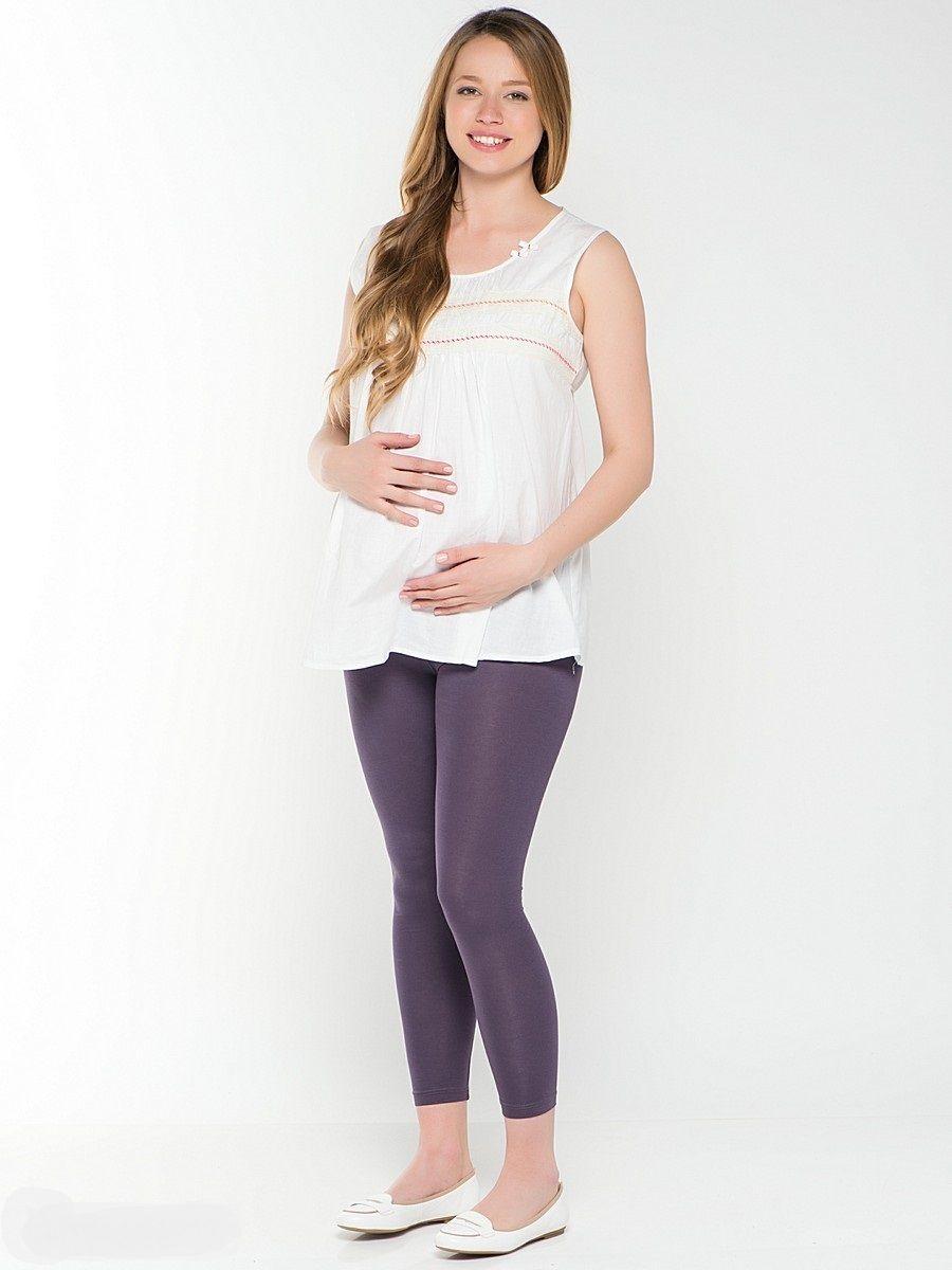 Леггинсы для беременных 40 недель, цвет: сиренево-серый. 17128. Размер 5017128Леггинсы для беременных от бренда 40 недель - практичные и удобные. Модель с низкой посадкой под животик, выполнена из вискозы с добавлением лайкры, что позволяет им сохранять форму и не вытягиваться. Стильные леггинсы сделаю ваш образ неповторимым в сочетании с туниками или блузами. Можно использовать для дома и прогулок.