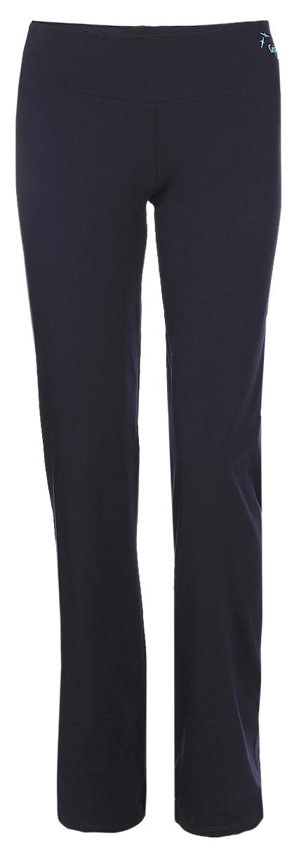 Брюки спортивные женские Grishko, цвет: темно-синий. AL-3074. Размер XL (50)AL-3074Удобные прямые брюки Grishko с высоким фиксирующим плотным поясом прекрасно подойдут для спортивных тренировок и активных прогулок. Благодаря идеальной конструкции, они создают стройный и спортивный силуэт. Брюки изготовлены из материалов высокого качества, плотного натурального хлопка с добавлением лайкры. Это легкая, дышащая ткань, которая не мнется и отличается особой прочностью и износостойкостью. Прекрасно держат форму и выдерживает многократные стирки.