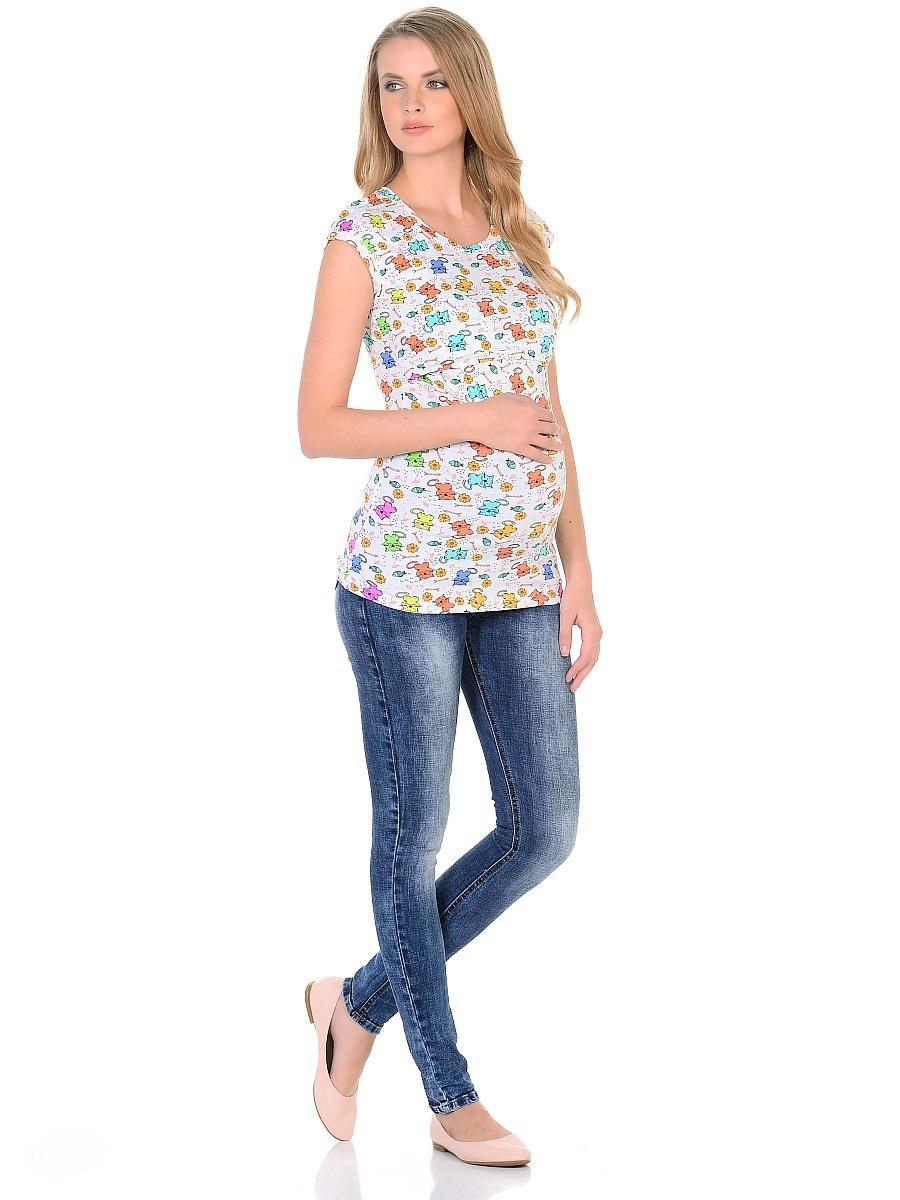 Джинсы для беременных 40 недель, цвет: голубой. 103171. Размер 42103171Джинсы для беременных от бренда 40 недель - отличный выбор для будущей мамы на каждый день! Модель зауженного кроя, с высокой посадкой по талии. Джинсы имеют трикотажную кокетку с регулируемой резинкой в поясе, что позволяет носить такие джинсы с комфортом, на любом сроке беременности и после рождения малыша. Передние и задние накладные карманы дополнены для практичности специальными заклепками в уголках, которые спасают джинсы от распарывания по шву. На заднем кармане декоративный элемент. Вертикальные потертости визуально вытягивают, делая ноги стройнее. Благодаря оптимальному содержанию эластана, джинсы отлично садятся на любую фигуру, не сковывают движений, хорошо держат форму. Джинсы универсальны в своем применении, они комбинируются со многими предметами гардероба, в них образ выглядит стильно, современно и безупречно в любой ситуации.