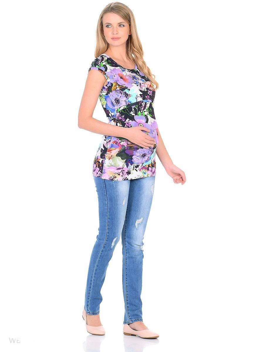Джинсы для беременных 40 недель, цвет: голубой. 103173. Размер 46103173Джинсы для беременных от бренда 40 недель - отличный выбор для будущей мамы! Модель прямого покроя, с высокой посадкой по талии. Джинсы имеют трикотажную кокетку с регулируемой резинкой в поясе, что позволяет носить модель с комфортом, на любом сроке беременности и после рождения малыша. Передние и задние накладные карманы дополнены для практичности специальными заклепками в уголках, которые спасают джинсы от распарывания по шву. На заднем кармане декоративный элемент. Вываренный цвет, потертости и модные надрывы и порезы в дизайне придают стильный гранжевый оттенок.Благодаря оптимальному содержанию эластана, джинсы отлично садятся на любую фигуру, не сковывают движений, хорошо держат форму. Джинсы универсальны в своем применении, они комбинируются со многими предметами гардероба, в них образ выглядит стильно, современно и безупречно в любой ситуации.