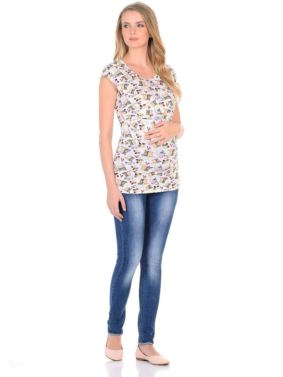 Джинсы для беременных 40 недель, цвет: синий. 103180. Размер 42103180Джинсы для беременных от бренда 40 недель - прекрасный выбор для будущей мамы на каждый день. Модель зауженного кроя, с высокой посадкой по талии. Джинсы имеют трикотажную кокетку с регулируемой резинкой в поясе, что позволяет носить их с комфортом на любом сроке беременности и после рождения малыша. Передние и задние накладные карманы дополнены для практичности специальными заклепками в уголках, которые спасают джинсы от распарывания по шву. На переднем и заднем карманах - металлические декоративные элементы. Вертикальные потертости визуально вытягивают, делая ноги стройнее. Благодаря оптимальному содержанию эластана, джинсы отлично садятся на любую фигуру, не сковывают движений, хорошо держат форму. Джинсы универсальны в своем применении, они комбинируются со многими предметами гардероба, в них образ выглядит стильно, современно и безупречно в любой ситуации.