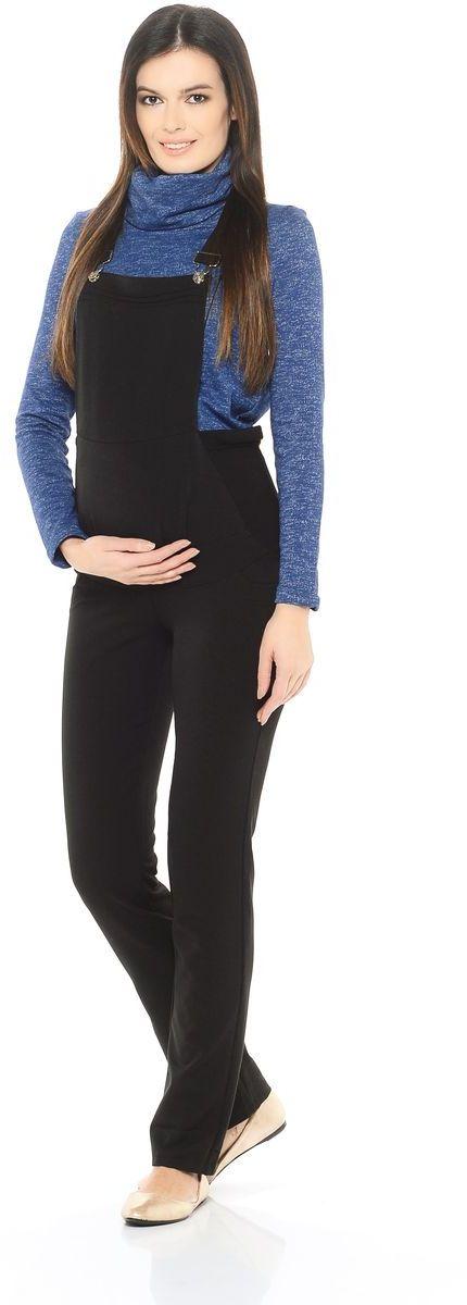 Комбинезон для беременных 40 недель, цвет: черный. 101202. Размер 48101202Комфортный комбинезон для беременных женщин от бренда 40 недель - удобная и практичная одежда на каждый день. Изделие выполнено из вискозного полотна с добавлением хлопка и эластана. Модель в классическом исполнении с брючками прямого кроя, дополнена передними декоративными и задними накладными карманами. Современная модель с хорошей поддержкой для растущего животика, обхват регулируется с помощью трикотажных вставок по бокам и перфорированных резинок. Бретели регулируются по длине.Комбинезон - идеальный вариант одежды для будущей мамы, он хорошо садится по фигуре, мягко поддерживает животик, сохраняя свободу и легкость движений на любом сроке беременности.