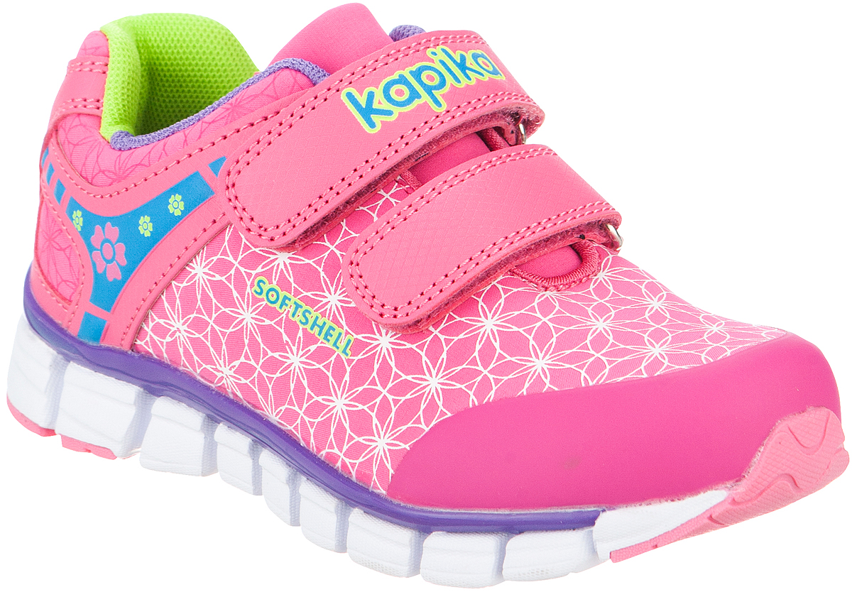 Кроссовки для девочки Kapika, цвет: фуксия. 72184с-1. Размер 3172184с-1Удобные и стильные кроссовки для девочки Kapika прекрасно подойдут вашему ребенку для активного отдыха и повседневной носки. Верх модели выполнен из искусственной кожи и текстиля. Стелька изготовлена из натуральной кожи, благодаря чему обувь дышит, что обеспечивает идеальный микроклимат. Для удобства обувания и надежной фиксации стопы на подъеме имеются два ремешка на липучках. Рельефная подошва не скользит и обеспечивает хорошее сцепление с поверхностью. Кроссовки оформлены принтом и логотипом бренда. В такой обуви ногам вашего ребенка,будет комфортно и уютно!