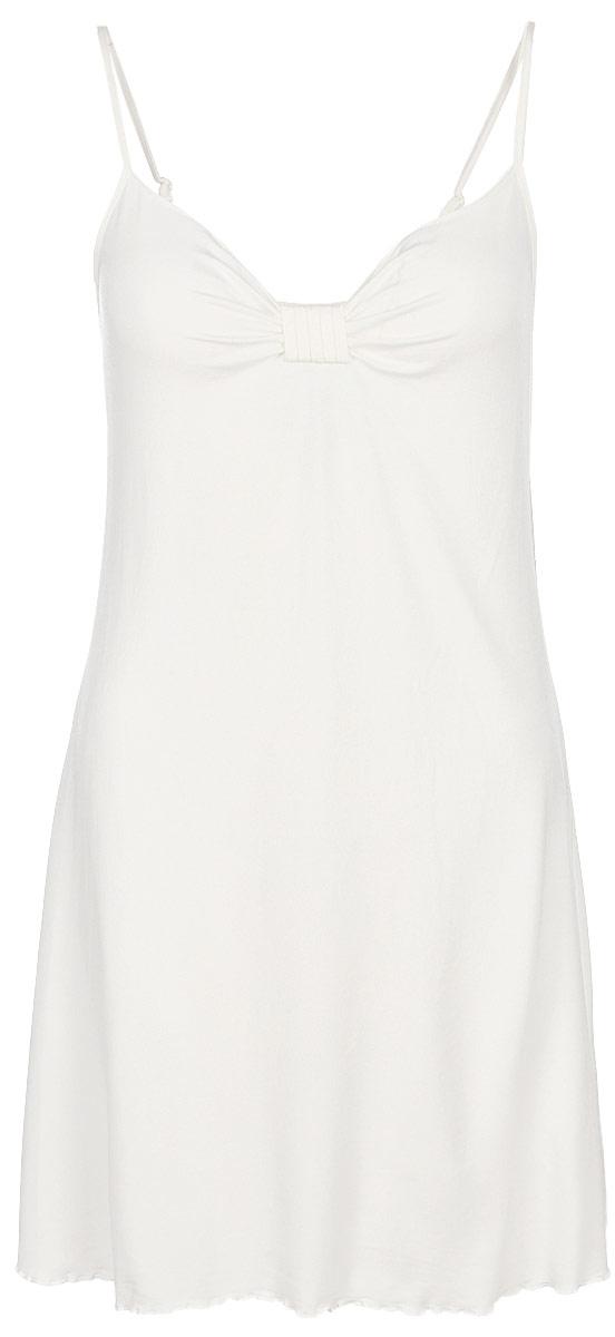 Сорочка женская Lowry, цвет: молочный. LNG-10. Размер L (48)LNG-10Ночная сорочка Lowry, выполненная из качественного материала, необычайно мягкая и приятная на ощупь. Модель на тонких бретелях.Домашняя одежда играет большую роль в гардеробе женщины, ведь каждой женщине хочется даже дома выглядеть привлекательной. Прекрасный вариант домашней одежды эта замечательная сорочка. В такой сорочке каждая женщина будет чувствовать себя уютно и спокойно!