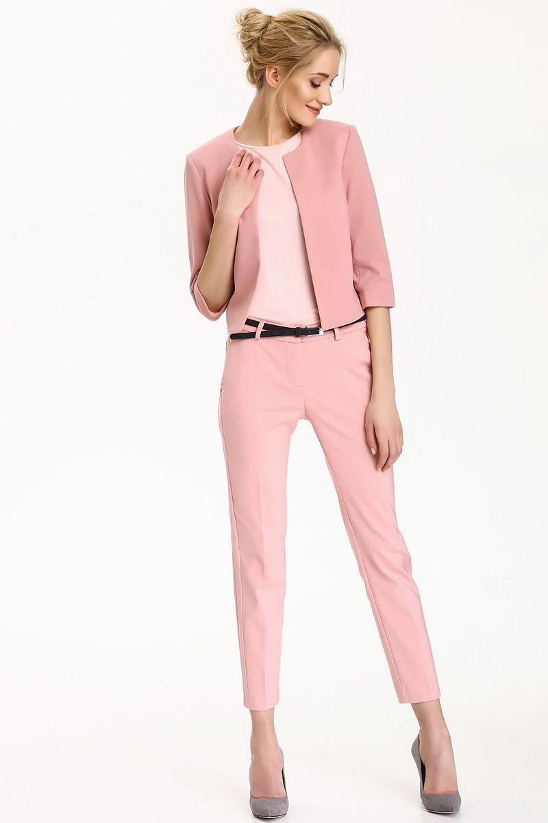 Брюки женские Top Secret, цвет: темно-розовый. SSP2499CR. Размер 34 (42)SSP2499CRСтильные женские брюки Top Secret - брюки высочайшего качества на каждый день, которые прекрасно сидят. Модель изготовлена из высококачественного комбинированного материала. Эти модные и в тоже время комфортные брюки послужат отличным дополнением к вашему гардеробу. В них вы всегда будете чувствовать себя уютно и комфортно.