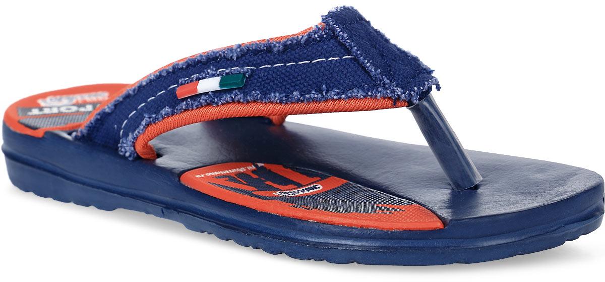 Шлепанцы для мальчика Эмальто, цвет: темно-синий, красный. 692В-7. Размер 31692В-7Легкие шлепанцы Эмальто для мальчика выполнены из мягкого водонепроницаемого материала ЭВА. Перемычка между пальцев с отделкой из текстиля надежно зафиксирует обувь на ноге. Невесомая подошва из ЭВА с рифлением обеспечит отличное сцепление с любой поверхностью. Такие шлепанцы прекрасно подойдут для похода в бассейн или для поездки на пляж.