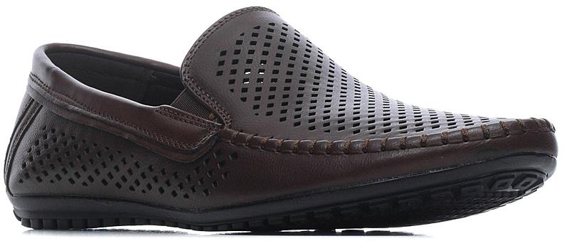Туфли мужские Francesco Donni, цвет: темно-коричневый. T864 680YW-X37-11G03. Размер 42T864 680YW-X37-11G03Мужские туфли выполнены из искусственной перфорированной кожи. Эластичные вставки на подъеме обеспечат комфортную посадку на ноге. Подкладка и стелька изготовлены из текстиля, что позволяет ногам дышать. Подошва оснащена рифлением.