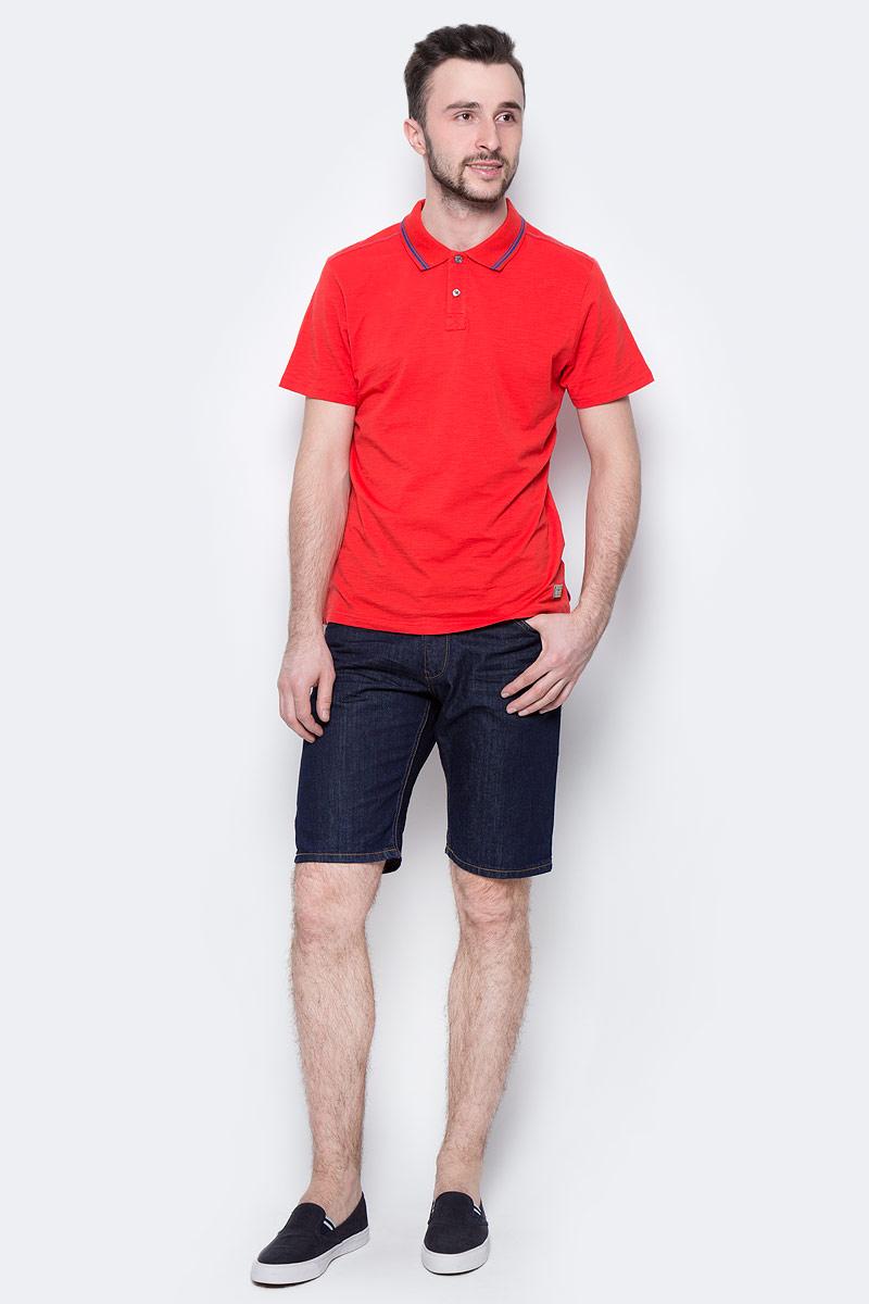 Шорты мужские Tom Tailor Denim, цвет: темно-синий. 6205924.00.12_1202. Размер XL (52)6205924.00.12_1202Джинсовые шорты Tom Tailor Denim выполнены из 100% хлопка. Модель прямого кроя застегивается на молнию и пуговицу, имеет шлевки для ремня. Спереди предусмотрены два втачных кармана, а сзади - два накладных. Оформлено изделие контрастной прострочкой.