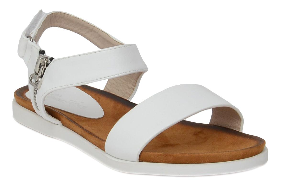 Сандалии женские Bona Mente, цвет: белый. 8029-29-3. Размер 418029-29-3Женские сандалии от Bona Mente выполнены из искусственной кожи. Модель фиксируется на ноге при помощи ремешка с липучкой. Сандалии оформлены декоративной молнией. Подкладка и стелька, изготовленные из искусственной кожи, обладают хорошей влаговпитываемостью и естественной воздухопроницаемостью. Подошва из резины обеспечивает хорошую амортизацию и сцепление с любой поверхностью.