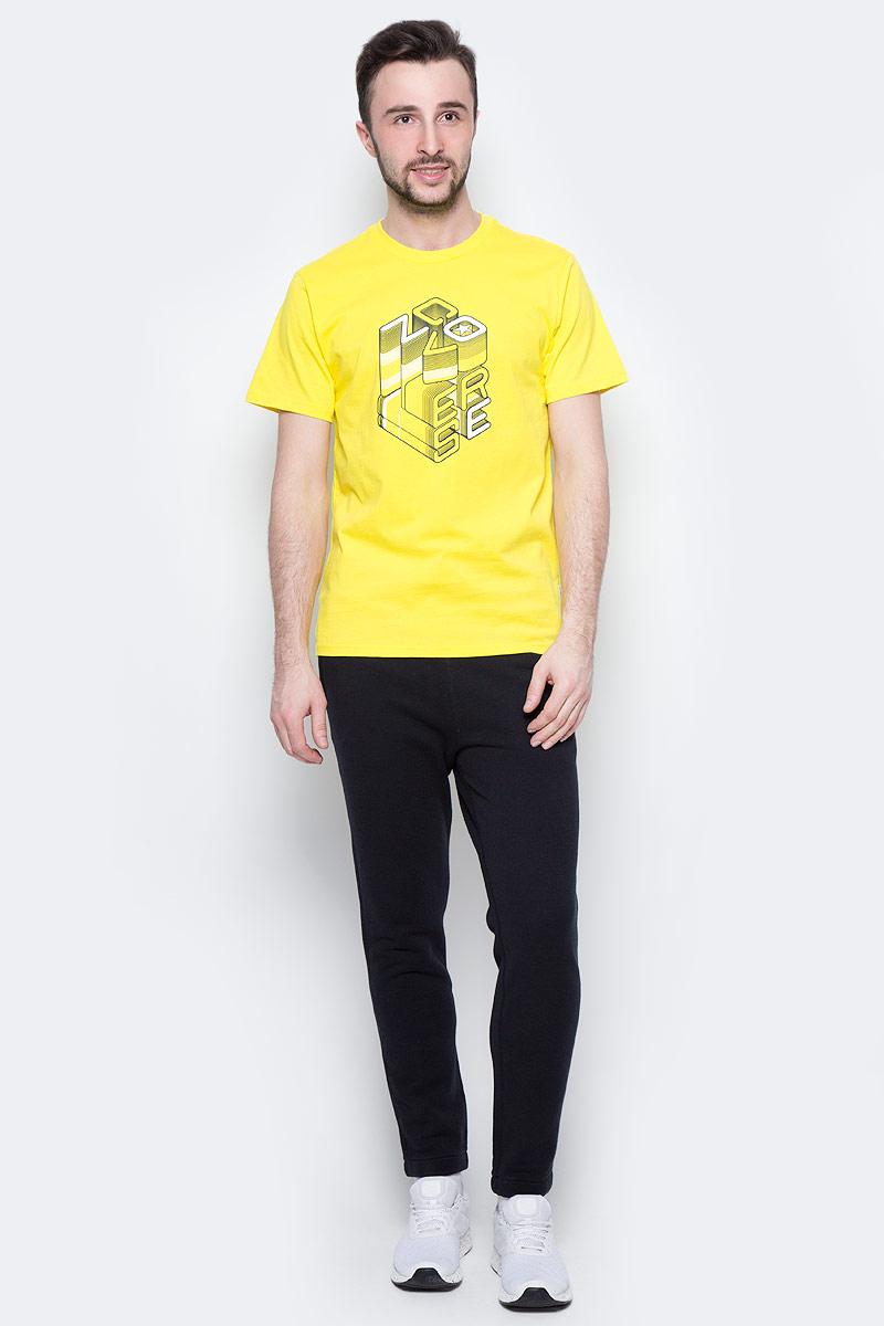 Футболка мужская Converse Knitted SS Crew Tee, цвет: желтый. 10003905720. Размер L (50)10003905720Футболка Converse - оптимальный вариант для активного отдыха и повседневного использования. Модель выполнена из хлопка, что обеспечивает максимально комфортные ощущения во время использования. Крупный принт на груди придает изделию оригинальность.