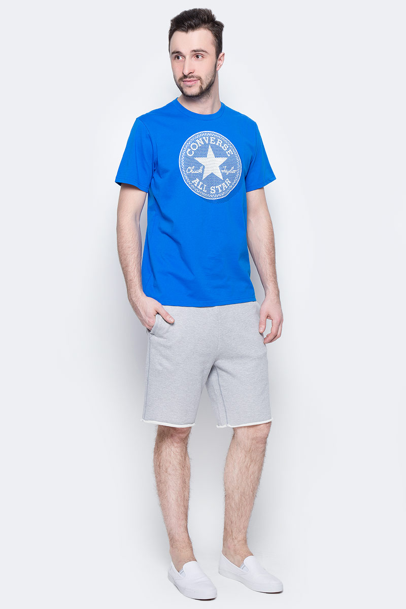 Шорты мужские Converse Knitted Mens Short, цвет: серый. 10003347022. Размер XL (52)10003347022Трикотажные шорты Converse изготовлены из натурального хлопка. Модель с врезными карманами на завязках, сзади маленький карман для мелочи.