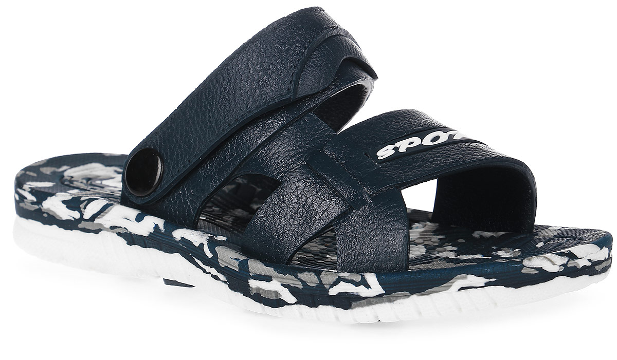 Сандалии для мальчика Эмальто, цвет: темно-синий. 8086. Размер 318086Модные сандалии для мальчика от Эмальто выполнены из легкого ЭВА-материала. Верхняя поверхность подошвы дополнена рельефом, который предотвращает скольжение стопы. Ремешок на пятке надежно зафиксирует модель на ноге. Подошва дополнена рифлением. Невесомые удобные сандалии займут достойное место в летнем гардеробе вашего ребенка.